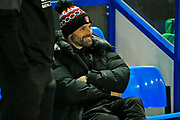 Paul Warne smiles before the The FA Cup match between Solihull Moors and Rotherham United at the Automated Technology Group Stadium, Solihull, United Kingdom on 2 December 2019.
