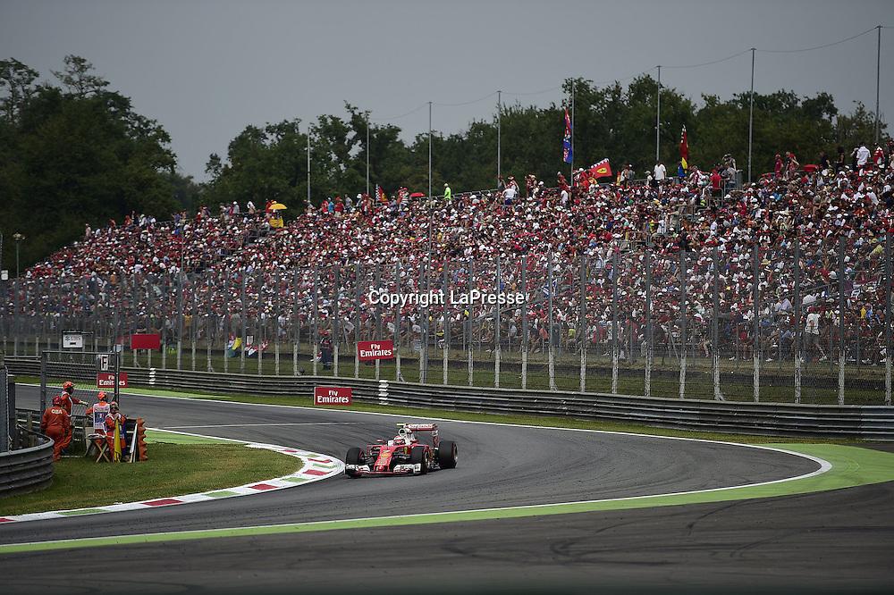 &copy; Photo4 / LaPresse<br /> 04/09/2016 Monza, Italy<br /> Sport <br /> Grand Prix Formula One Italia 2016<br /> In the pic: Kimi Raikkonen (FIN) Scuderia Ferrari SF16-H