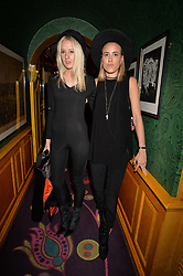 Left to right, Jennifer Milne and Eliza Noble at the Annabel's Bright Young Things Party at Annabel's, Berkeley SquareLondon England. 8 June 2017.<br /> Photo by Dominic O'Neill/SilverHub 0203 174 1069 sales@silverhubmedia.com