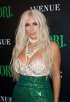 Kim Kardashian at Avenue NYC 2012. Midori Green Halloween Event