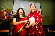 AMSTERDAM - Princess Mabel attends the book presentation of The Impatient in the Beurs van Berlage. Lange, a book about the work of the AIDS fighter Joep Lange, who died in the crash of the MH17. The book presentation took place during the week of the international AIDS conference AIDS2018 copyrught robin utrecht