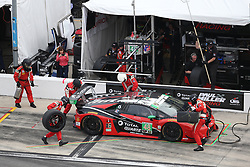 January 27, 2018 - Daytona, FLORIDE, ETATS UNIS - 48 PAUL MILLER RACING (USA) LAMBORGHINI HURACAN GT3 LAMBORGHINI GTD BRYAN SELLERS (USA) MADISON SNOW (USA) ANDREA CALDARELLI (ITA) BRYCE MILLER USA) (Credit Image: © Panoramic via ZUMA Press)