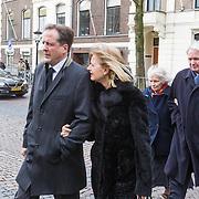 NLD/Utrecht/20140215 - Herdenkingsdienst Els Borst in de Domkerk Alexander Pechtold en partner Froukje Idema
