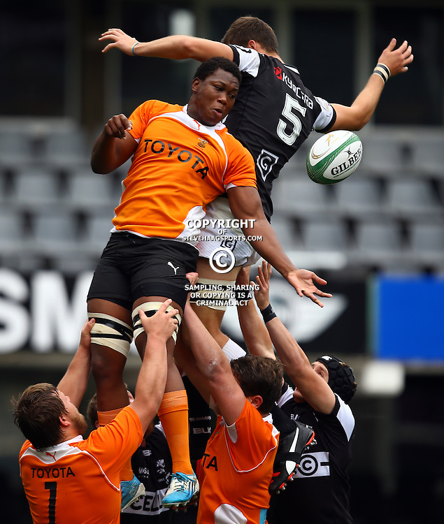 DURBAN, SOUTH AFRICA - SEPTEMBER 10: Sibabalo Qoma of the Toyota FS Cheetahs U19 during the Currie Cup U19 match between the Sharks and Free State at Growthpoint Kings Park on September 10, 2016 in Durban, South Africa. (Photo by Steve Haag/Gallo Images)