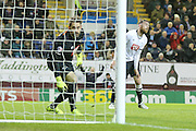 Derby County defender Richard Keogh an own goal  during the Sky Bet Championship match between Burnley and Derby County at Turf Moor, Burnley, England on 25 January 2016. Photo by Simon Davies.
