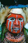 Woman at a Sing Sing tribal gathering, Papua New Guinea, South Pacific
