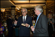 RICHARD COHEN; ANDREW MCGEACHIN;   Book party for 'The Liar's Ball' by Vicky Ward hosted by  Sir Evelyn  de Rothschild at Henry Sotheran's, 2 Sackville Street London. 25 November 2014