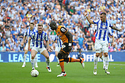 Hull City midfielder Mohammed Diame (17) attacking the goal during the Sky Bet Championship Play-Off Final between Hull City and Sheffield Wednesday at Wembley Stadium, London, England on 28 May 2016. Photo by Phil Duncan.