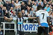 Newcastle United celebrate Newcastle United midfielder Georginio Wijnaldum goal  during the Barclays Premier League match between Newcastle United and Norwich City at St. James's Park, Newcastle, England on 18 October 2015. Photo by Simon Davies.