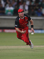 Daniel Christian  cant hold the catch during match 11 of the Airtel CLT20 between The South Australian Redbacks and The Royal Challengers Bangalore held at Kingsmead Stadium in Durban on the 17 September 2010..Photo by: Steve Haag/SPORTZPICS/CLT20.