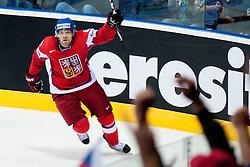 Milan Michalek of Czech Republic celebrate after scoring a goal during ice-hockey match between Czech Republic and Denmark of Group D of IIHF 2011 World Championship Slovakia, on May 2, 2011 in Orange Arena, Bratislava, Slovakia. (Photo by Matic Klansek Velej / Sportida)