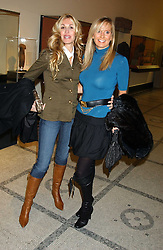 Left to right, MELISSA ODABASH and SIOBHAN MAREUSE at a fashion show and after party to celebrate the 20th Anniversay of fashion designer Ozwald Boateng held at the Victoria & Albert Museum, London on 25th November 2005.<br />