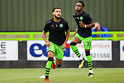 Forest Green Rovers defender Dominic Bernard (3) warms up ahead of the EFL Sky Bet League 2 match between Forest Green Rovers and Oldham Athletic at the New Lawn, Forest Green, United Kingdom on 3 August 2019.