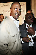 l to r: Shakir Stewart and LA Reid at The Jermaine Dupri Birthday Celebrration held at Tenjune in New York City on September 23, 2008