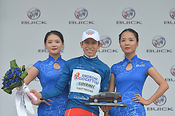 September 20, 2017 - Changde City, China - Kevin Rivera Serrano from Androni-Sidermec-Bottecchia team keeps the Blue Best Sprinter Jersey after the second stage of the 2017 Tour of China 2, the 97.6km Changde Lixiang Circuit Race. .On Wednesday, 20 September 2017, in Lixian County, Changde City, Hunan Province, China. (Credit Image: © Artur Widak/NurPhoto via ZUMA Press)