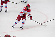 Russia forward Starovoytova Alyena controls the puck in the second period during the Nagano Olympics Paralympics 20th Anniversary Games at Nagano on Monday, December 25, 2017. 25/12/2017-Nagano, JAPAN.