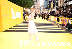 Lily James attending the Yesterday UK Premiere held in London, UK.