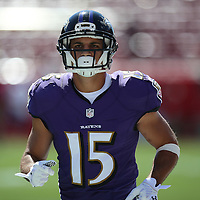 TAMPA, FL - OCTOBER 12:  Wide receiver Michael Campanaro #15 of the Baltimore Ravens is seen during an NFL football game at Raymond James Stadium on October 12, 2014 in Tampa, Florida. (Photo by Alex Menendez/Getty Images) *** Local Caption *** Michael Campanaro