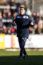 Bristol Rovers manager Darrell Clarke celebrates after a 1-0 win - Rogan Thomson/JMP - 28/01/2017 - FOOTBALL - Memorial Stadium - Bristol, England - Bristol Rovers v Swindon Town - Sky Bet League One.
