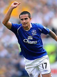 TIM CAHILL.EVERTON FC.HULL CITY V EVERTON.KC STADIUM, HULL, ENGLAND.21 September 2008.DIV85844..  .WARNING! This Photograph May Only Be Used For Newspaper And/Or Magazine Editorial Purposes..May Not Be Used For, Internet/Online Usage Nor For Publications Involving 1 player, 1 Club Or 1 Competition,.Without Written Authorisation From Football DataCo Ltd..For Any Queries, Please Contact Football DataCo Ltd on +44 (0) 207 864 9121