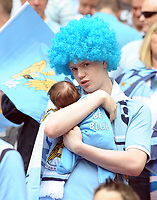 Wembley Stadium The FA Cup Final Manchester City v Stoke 14/05/2011   Premier League <br />The youngest Manchester  City fan at Wembley?<br />Photo: Roger Parker Fotosports International