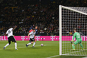 Dele Alli of England battles in the penalty area during the International Friendly match between Germany and England at Signal Iduna Park, Dortmund, Germany on 22 March 2017. Photo by Phil Duncan.