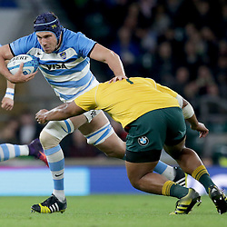 Guido Petti of Argentina is tackled by Scott Sio of Australia during the The Rugby Championship match between Argentina and Australia at Twickenham Stadium, Twickenham - 08/10/2016<br /> ©Matthew Impey / Wired Photos<br /> Picture by Matt Impey +44 7789 130347
