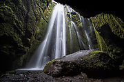 Gljúfrabúi is a waterfall near Seljalandsfoss in south-Iceland. It falls into a cave.
