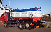 Ships waste disposal oil collection vehicle, Great Yarmouth, England