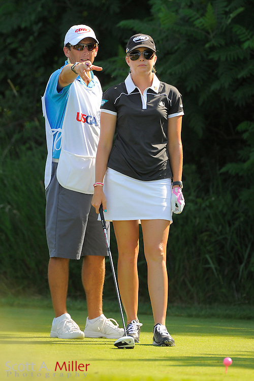Paula Creamer and her caddie Colin Cann during the first round for the US Women's Open at Blackwolf Run on July 5, 2012 in Kohler, Wisconsin. ..©2012 Scott A. Miller