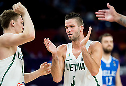 Marius Grigonis of Lithuania and Mantas Kalnietis of Lithuania during basketball match between National Teams of Lithuania and Greece at Day 10 in Round of 16 of the FIBA EuroBasket 2017 at Sinan Erdem Dome in Istanbul, Turkey on September 9, 2017. Photo by Vid Ponikvar / Sportida