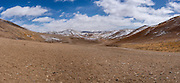 A panoramic landscape in Amdo region, Tibet (Qinghai, China).