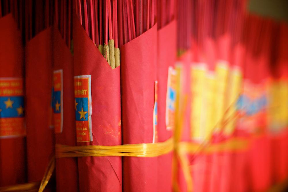 Joss sticks. Hanoi, Vietnam.