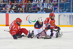 Ice Sledge Hockey Finals,  RUS v USA at the 2014 Sochi Winter Paralympic Games, Russia