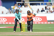 Mignon Du Preez of Southern Vipers batting during the Women's Cricket Super League match between Southern Vipers and Surrey Stars at the 1st Central County Ground, Hove, United Kingdom on 14 August 2018.