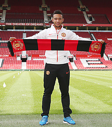 Memphis Depay - Photo mandatory by-line: Matt McNulty/JMP - Mobile: 07966 386802 - 10/07/2015 - SPORT - Football - Manchester - Old Trafford - Memphis Depay unveiled as Manchester United player
