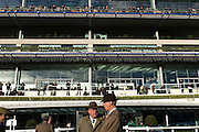 Ascot raceday, 21st November 2016. Racehorse owners in the parade ring before the race.