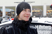 MOTORSPORT - WORLD RALLY CHAMPIONSHIP 2011 - RALLY SWEDEN / RALLYE DE SUEDE - 10 TO 13/02/2011 - KARLSTAD (SWE) - PHOTO : DPPI - <br /> OSTBERG MADS - FORD  FIESTA RS WRC - AMBIANCE PORTRAIT