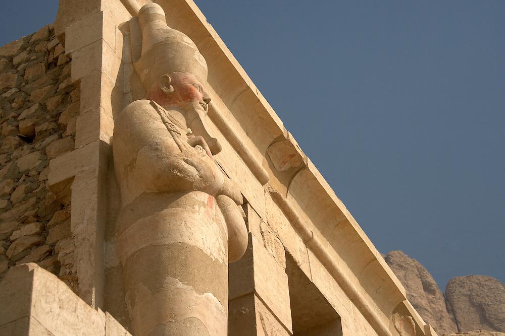 Statue at Hatshepsut Temple at Deir al-Bahri, Egypt