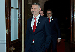 CARDIFF, WALES - Thursday, March 21, 2019: Wales' manager Ryan Giggs arrives for the Football Association of Wales Awards 2019 at the Hensol Castle. (Pic by Ian Cook/Propaganda)