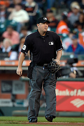 SAN FRANCISCO, CA - JULY 11:  MLB umpire Todd Tichenor #13 stands on the field before the game between the San Francisco Giants and the Philadelphia Phillies at AT&T Park on July 11, 2015 in San Francisco, California.  The San Francisco Giants defeated the Philadelphia Phillies 8-5. (Photo by Jason O. Watson/Getty Images) *** Local Caption *** Todd Tichenor