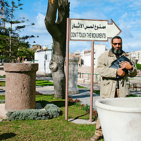 From the series WAR GAMES: uprising in Alexandria, Egypt. The head of the archaeological museum, a day after protesters looted the outdoor part of his museum