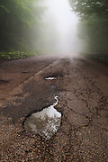 A big hole in the road