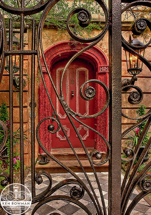 #8 Legare Street door with gate