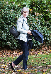 © Licensed to London News Pictures. 05/11/2017. Maidenhead, UK. British prime minister THERESA MAY attends a morning church service near her constituency home. Photo credit: Ben Cawthra/LNP
