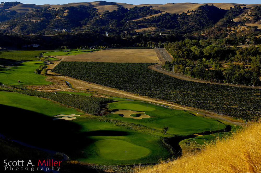 Oct. 9, 2006; Livermore, Cailf., USA: No. 9 (front) No. 16 (back) on The Course at Wente Vineyards in Livermore, Calif. ..©2006 Scott A. Miller