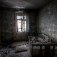 Abandoned ghostly villa in East Germany