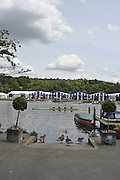 Henley, Great Britain. General Views GV's. Henley Royal Regatta, Qualifying time trial, for entry to the annual 2011 Henley Royal Regatta, raced on the River Thames, Henley Reach.  Friday   24/06/2011  [Mandatory Credit Peter Spurrier/ Intersport Images] 2011 Henley Royal Regatta. HOT. Great Britain . HRR