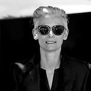 "Black & White Portrait during ""Tilda Swinton"" the 66th Annual Cannes Film Festival"