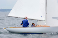 _V0A8310. ©2014 Chip Riegel / www.chipriegel.com. The 2014 Bullseye Class National Regatta, Fishers Island, NY, USA, 07/19/2014. The Bullseye is a Nathaniel Herreshoff designed 15' Marconi rig sailing boat.